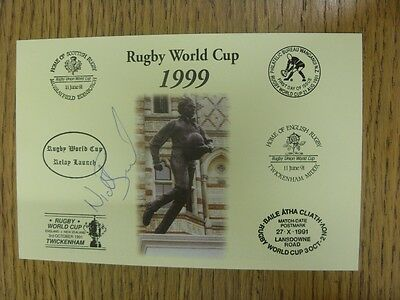 1999 Rugby World Cup Postcard: Hand Signed By Beal, Nick [World Cup 'Relay Launc