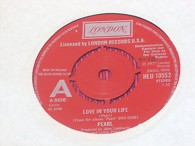 "Pearl:  Love in your life   7""  UK PROMO"