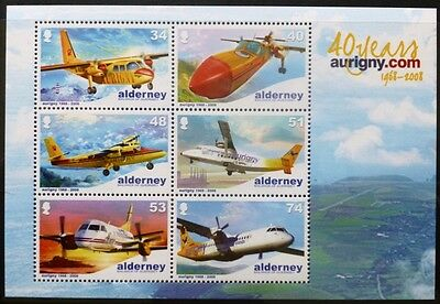 Alderney 2008 40th Anniversary of Aurigny Air Services M/S MNH