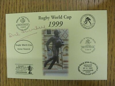 1999 Rugby World Cup Postcard: Hand Signed By Manley, Dick [World Cup 'Relay Lau