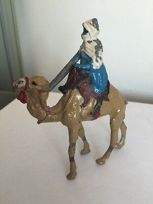 Vintage Britains Lead Mounted Arab On Camel With Gun