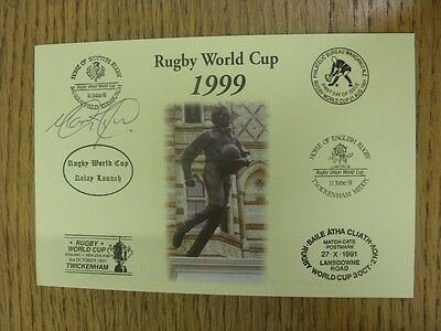 1999 Rugby World Cup Postcard: Hand Signed By Tucker, Mark [World Cup 'Relay Lau