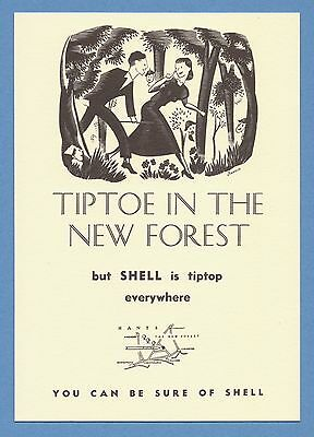 Shell Advertising Postcard (1993) - New Forest - Southern England