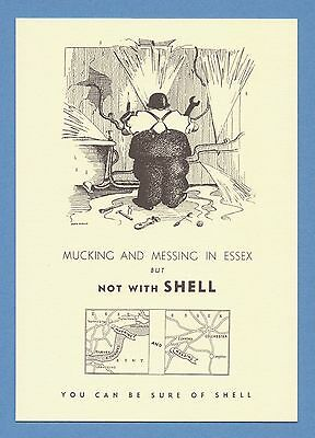 Shell Advertising Postcard (1993) - Mucking And Messing - Essex