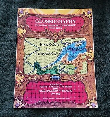 Glossography: For the guide to the world of Greyhawk - by Gary Gygax 1983