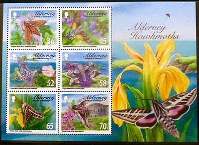 Alderney 2011 Hawk Moths Miniature Sheet MNH