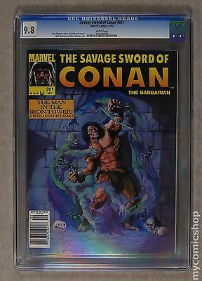Savage Sword of Conan (1974 Magazine) #201 CGC 9.8 1012280008
