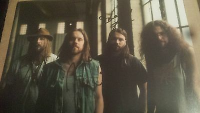 Monster Truck Band Hand Signed 12 X 8 Photo Sitting Heavy Rock Classic Rock Coa