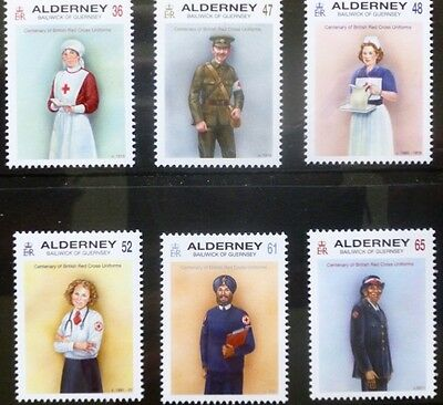 Alderney 2011 Red Cross Uniforms MNH (6)