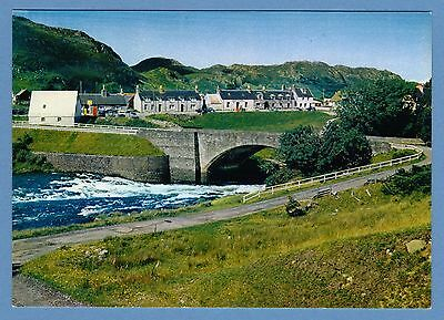 Dixon Postcard - Poolewe Village & Bridge, Wester Ross, Scottish Highlands