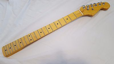 Guitar Neck Strat type Flamed Maple with Tuners