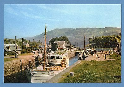 Dixon Postcard - The Caledonian Canal, Fort Augustus, Inverness-Shire