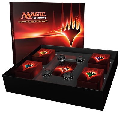 2017 Magic The Gathering Commander Anthology Factory Sealed Box With 4 Decks