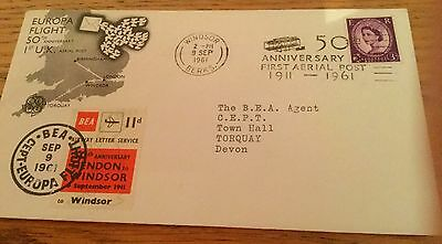 Rare First Day Cover 1961 Europa Cover With Rare Stamps With Special Postmark