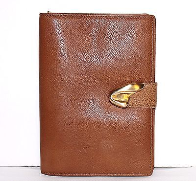 ✿ JONES NEW YORK Tan Pebbled Leather Passport Travel Wallet EXCELLENT! L@@K!