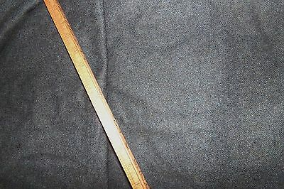 """6 1/2 YARDS Vintage Medium Weight Wool Flannel Suiting Fabric Gray X 60"""" NOS"""