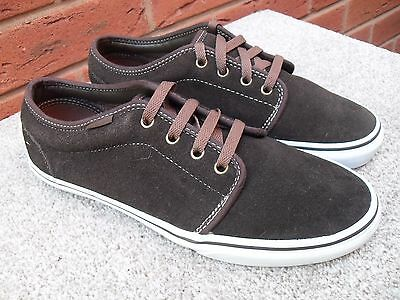Vans Authentic Brown Suede Pumps / Trainers Uk Size 8 And Uk Size 9