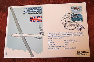 Australian Antarctic Territory Flown and signed  Cover 1974