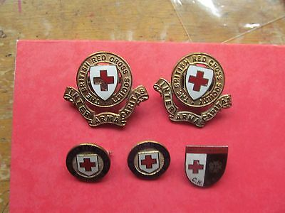 British Red Cross Collection Of Rare  Vintage Badges Set 1