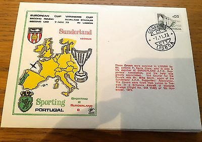 Football First Day Cover Football European Cup Sunderland V Sporting Lisbon
