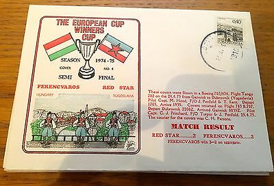 Football First Day Cover Football European Cup Red Star V  Ferencvaros