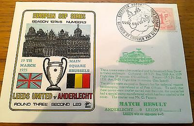 FOOTBALL FIRST DAY COVER FOOTBALL EUROPEAN CUP LEEDS UNITED v ANDERLECHT