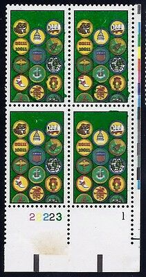 2251  Scarce Multiple Error / EFO Overinked & Tag Shift Pl# Blk4 Girl Scouts MNH