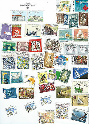 Vrac Timbres Portugal / Kiloware / 9 Scans