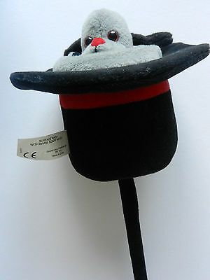 MAGICIAN'S  Pop Up Hat Sweep The Dog From Sooty Rare SOFT TOY IN TOP HAT