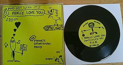 """The Phones Sportsman Band - I Really Love You, ORG 7"""" Vinyl, PUNK, Swell Maps"""