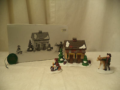 "Dept 56 Dickens Village ""Tending The New Calves"" Mint In Box 58395 HANDPAINTED"