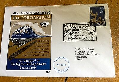 Railway Trains First Day Cover Lner Coronation Special