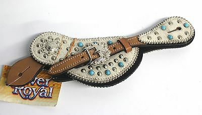 NEW JT INTERNATIONAL Desert Hope Turquoise Stone Cross Spur Strap Full Size