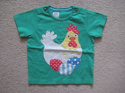 Baby Boden Tshirt Top 6-12 months applique chicken