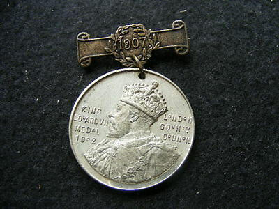 London County Council King Edward VII School Attendance Medal 1907 to F Bragg