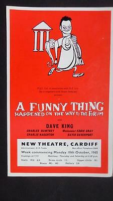 Flyer variety Cardiff Sondheim Funny Thing Charles Hawtrey (Carry On) Dave King