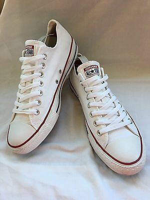 Lovely Mens White Converse Trainers  Uk 10 (Eur 44)