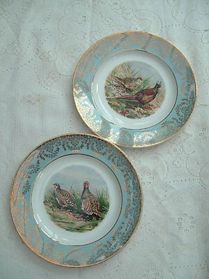 Vintage W H Grindley & Co Display/Cabinet Plates Game Birds
