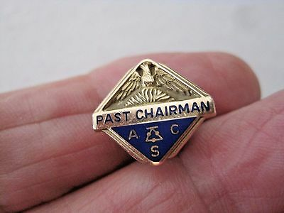 10K Solid Gold American Chemical Society ACS Past Chairman Lapel Pin Leavens