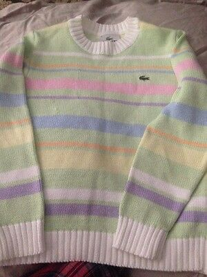 Boys Girls Wool Lacoste Jumper Care Neck Genuine Gorgeous Age 6 Size 8