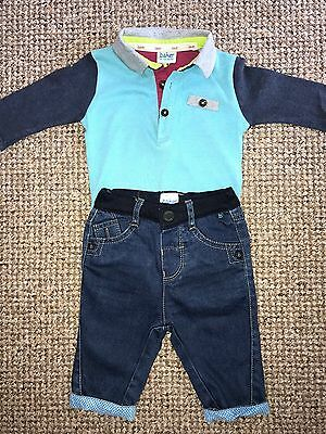 Baby Boys Outfit Top Jeans Age 3-6 Months Ted Baker