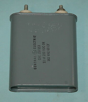 1x 28F953 General Electric Oil Capacitor 10uf 200v Used tested working
