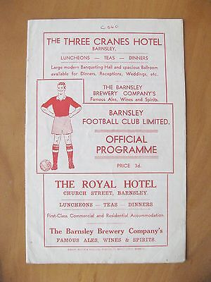 BARNSLEY v GRIMSBY TOWN 1953/1954 *VG Condition Football Programme*