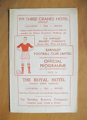 BARNSLEY v LEICESTER CITY 1951/1952 *Excellent Condition Football Programme*