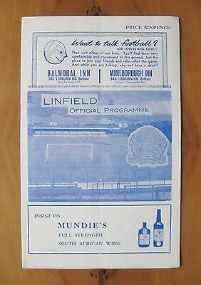 LINFIELD v VITORIA SETUBAL Fairs Cup 1968/1969 Exc Condition Football Programme