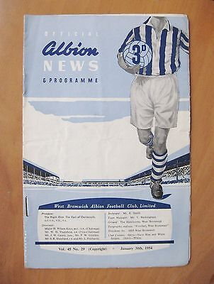 WEST BROMWICH ALBION v ROTHERHAM UNITED FA Cup 1953/1954 *Good Cond Programme*