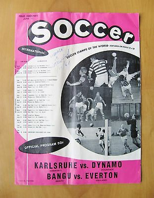 1961 USA Soccer League BANGU v EVERTON / DINAMO BUCHAREST v KARLSRUHE Fair Cond