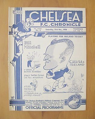 CHELSEA v DERBY COUNTY 1936/1937 *Excellent Condition Football Programme*