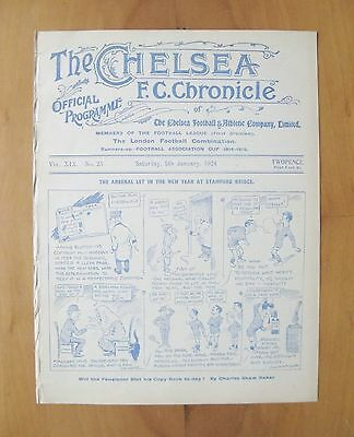 CHELSEA v ARSENAL 1923/1924 *Excellent Condition Football Programme*