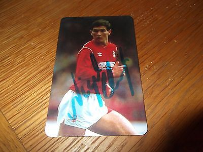 Nigel Clough - Signed Football Card - Football Stars